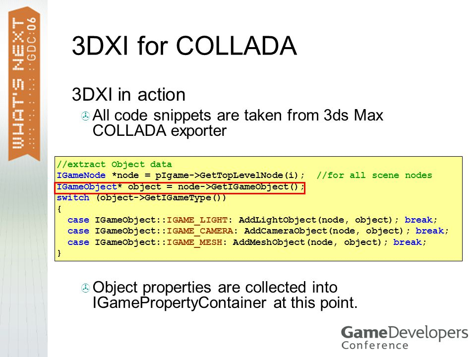 3DXI for COLLADA 3DXI in action