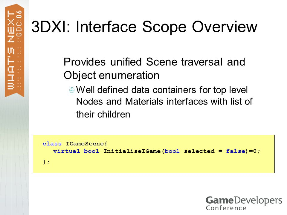 3DXI: Interface Scope Overview