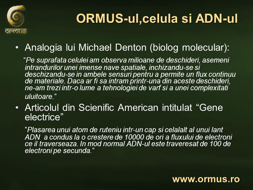 ORMUS-ul,celula si ADN-ul