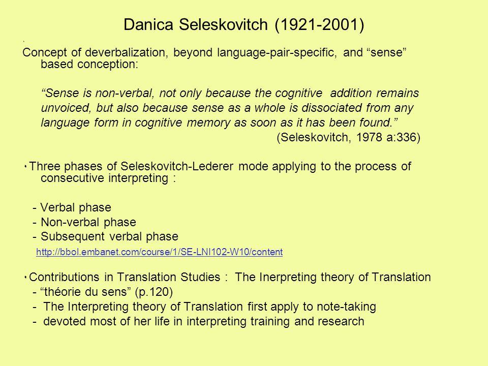 Danica Seleskovitch (1921-2001)