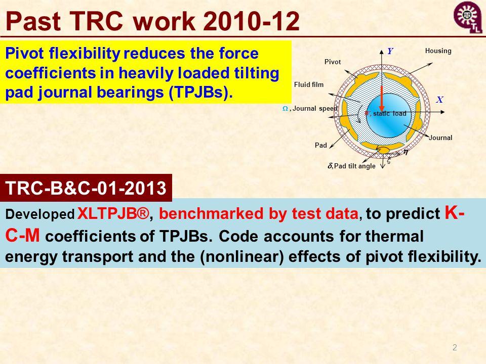 Past TRC work 2010-12 TRC-B&C-01-2013