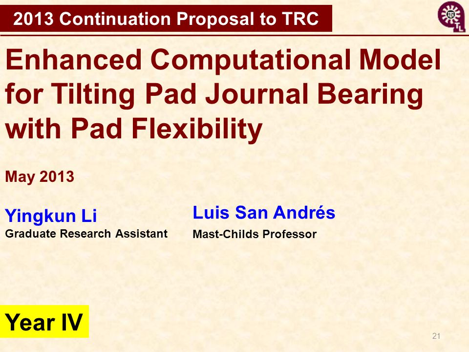 2013 Continuation Proposal to TRC
