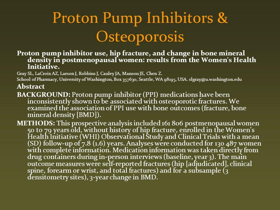 Proton Pump Inhibitors & Osteoporosis