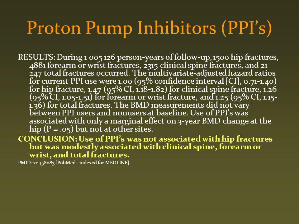 Proton Pump Inhibitors (PPI's)