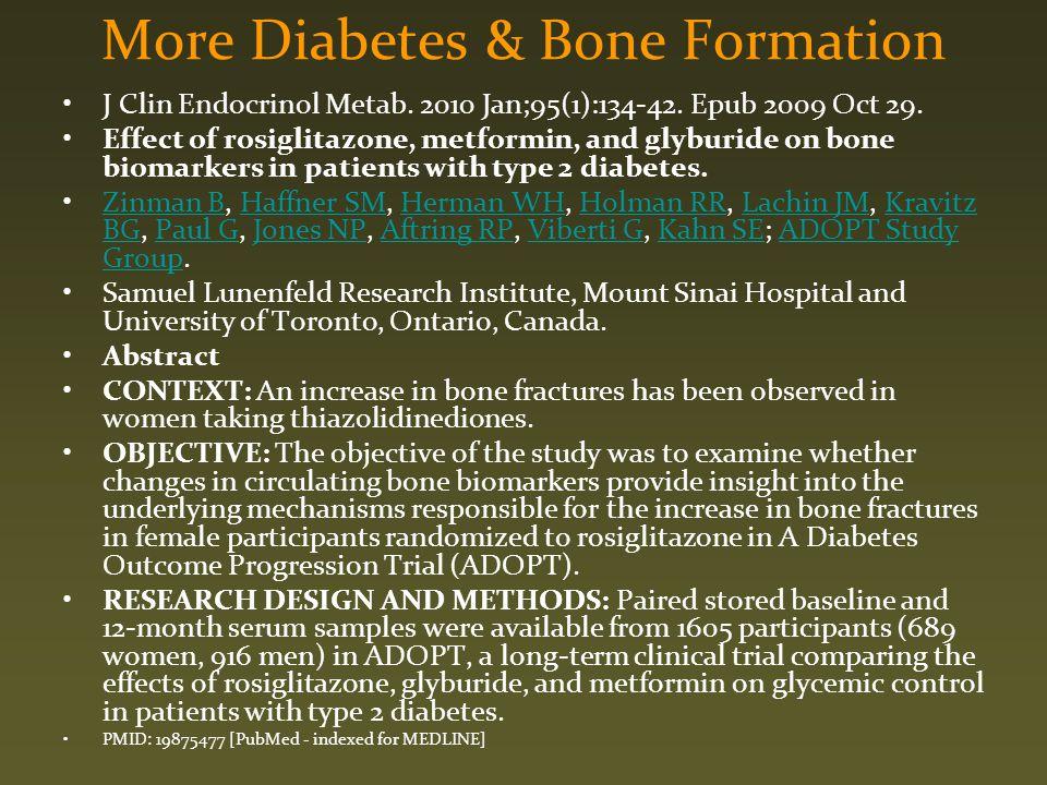 More Diabetes & Bone Formation