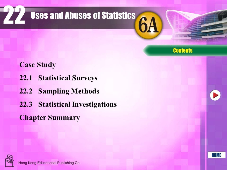 22 Uses and Abuses of Statistics Case Study 22.1 Statistical Surveys