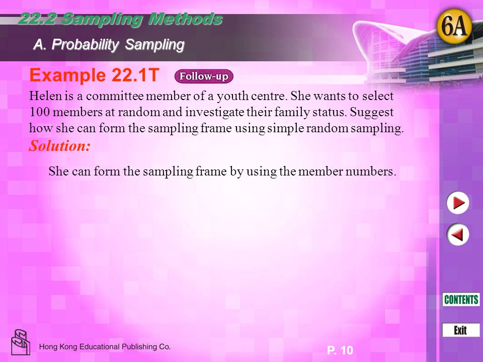 Example 22.1T 22.2 Sampling Methods Solution: A. Probability Sampling