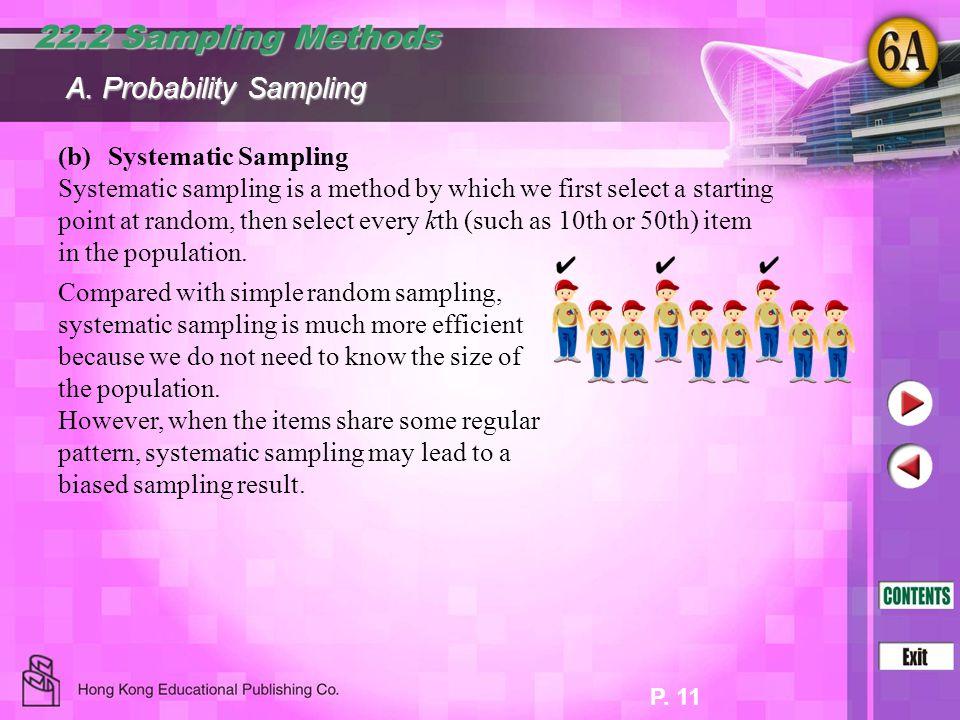 22.2 Sampling Methods A. Probability Sampling (b) Systematic Sampling
