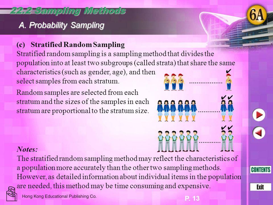 22.2 Sampling Methods A. Probability Sampling