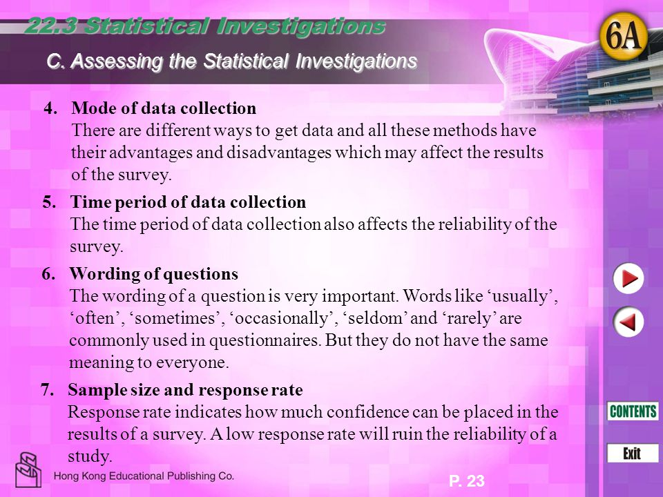 22.3 Statistical Investigations