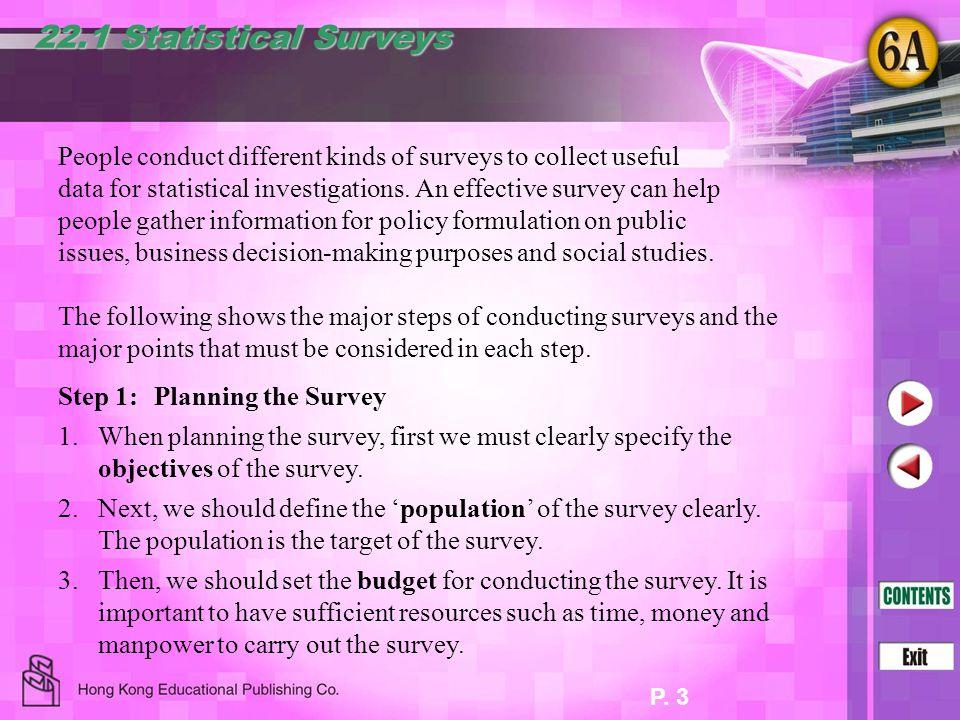 22.1 Statistical Surveys