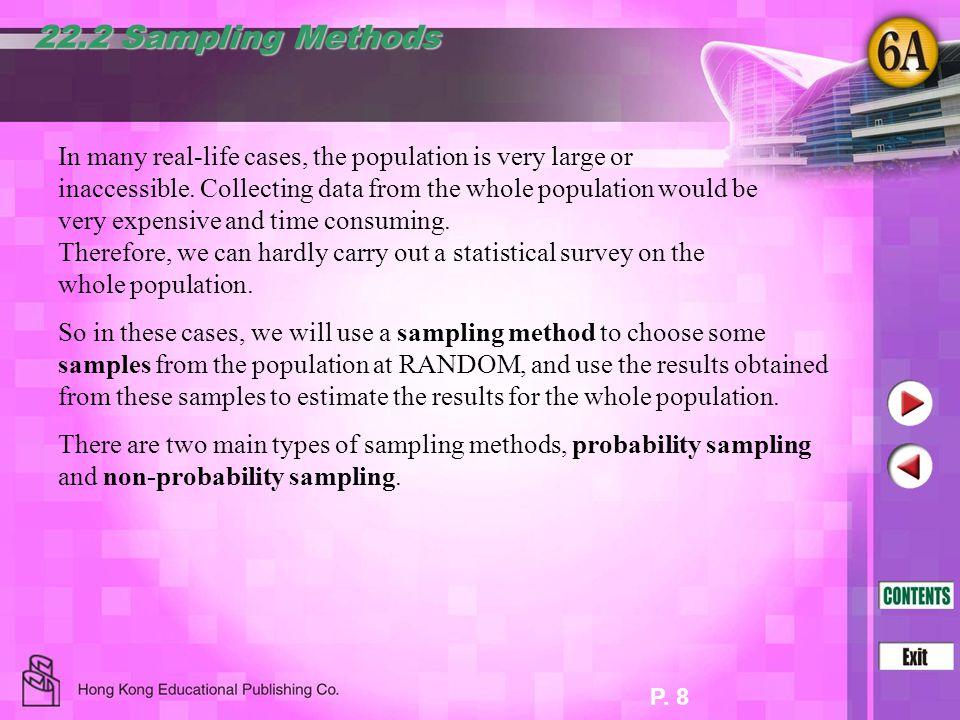 22.2 Sampling Methods