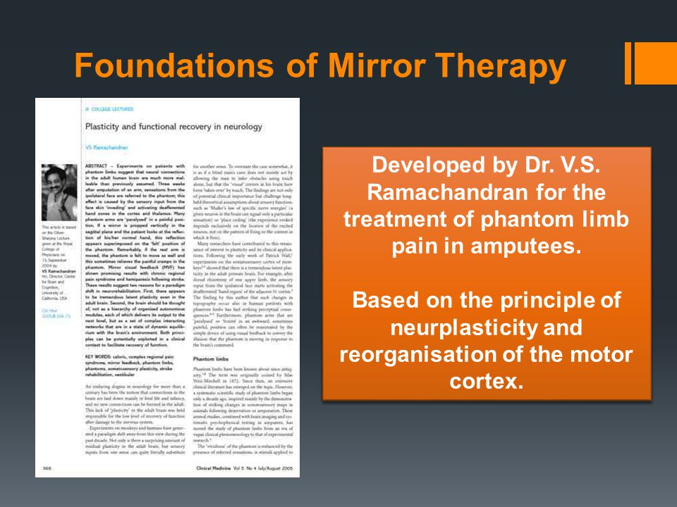 Foundations of Mirror Therapy