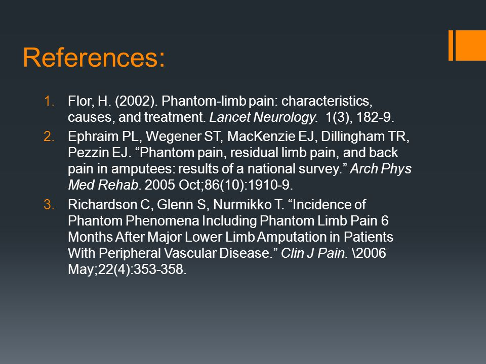 reasons behind the phantom limb phenomena These phenomena can also cause imbalances  or as if the phantom limb were bent into an  conditioning is another psychological mechanism behind the.