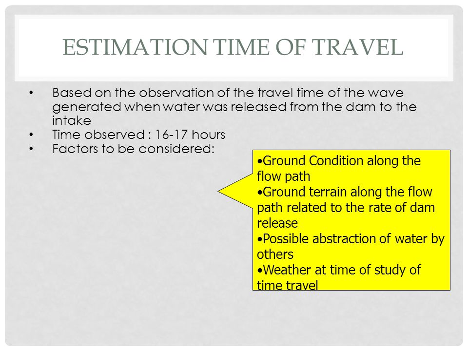 Estimation Time of Travel