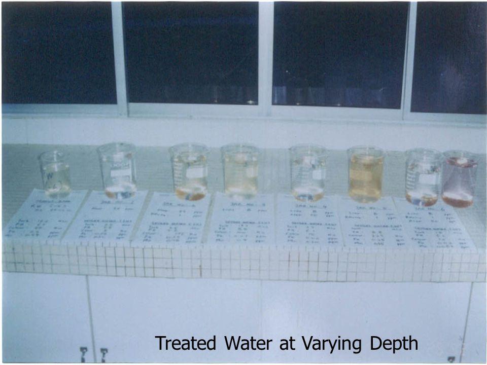 Treated Water at Varying Depth