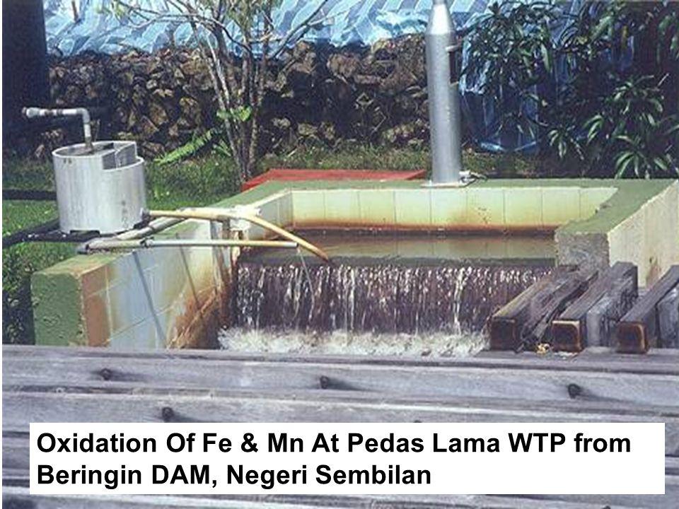 Oxidation Of Fe & Mn At Pedas Lama WTP from Beringin DAM, Negeri Sembilan