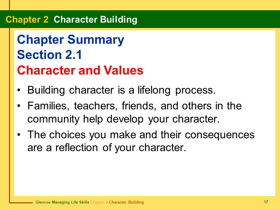 Chapter Summary Section 2.1