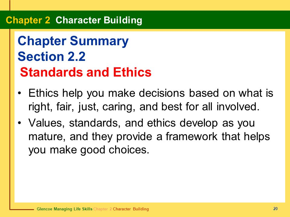 Chapter Summary Section 2.2