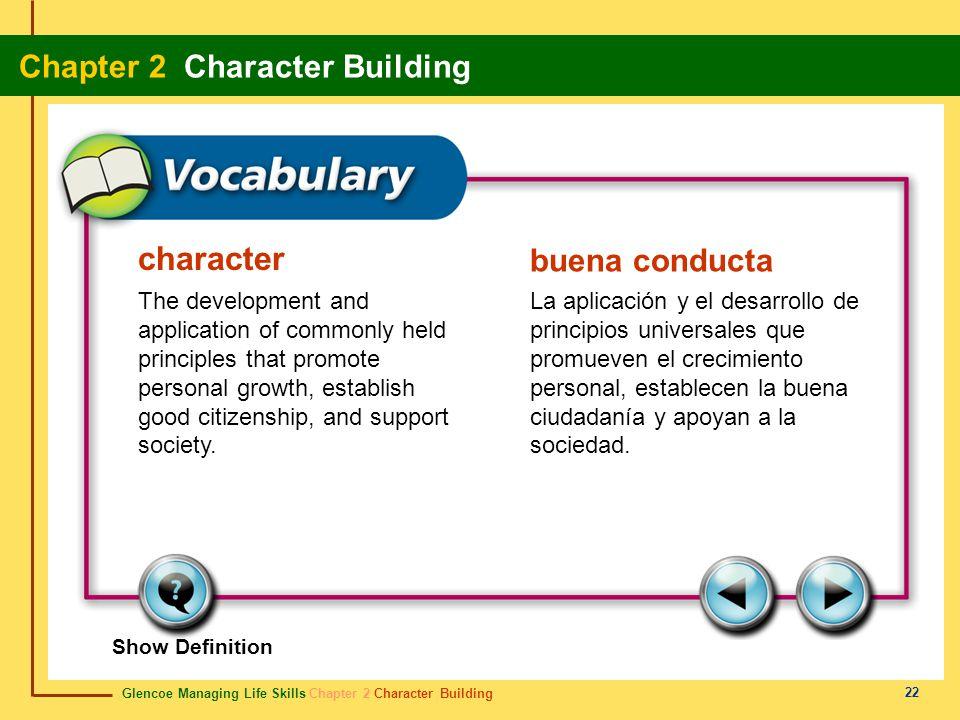 character buena conducta
