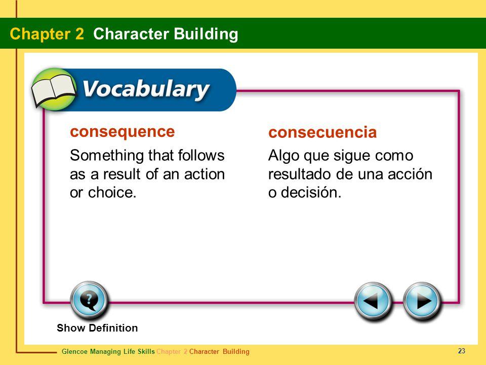 consequence consecuencia