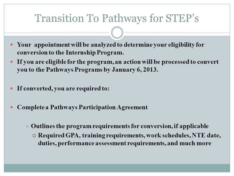 Transition To Pathways for STEP's