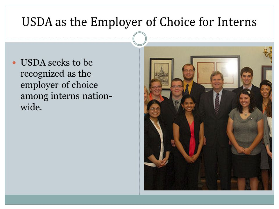USDA as the Employer of Choice for Interns