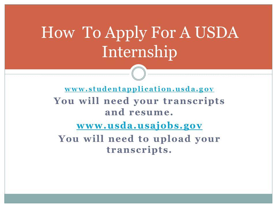 How To Apply For A USDA Internship
