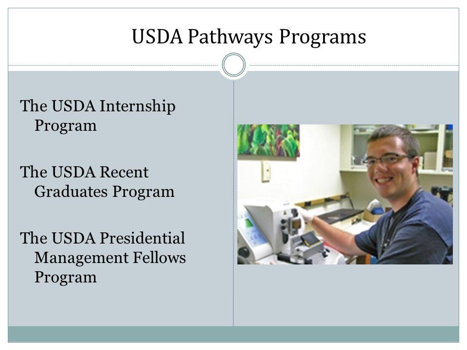 USDA Pathways Programs