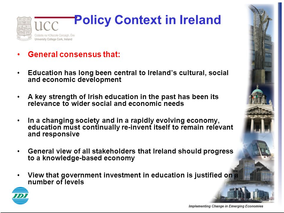 Policy Context in Ireland