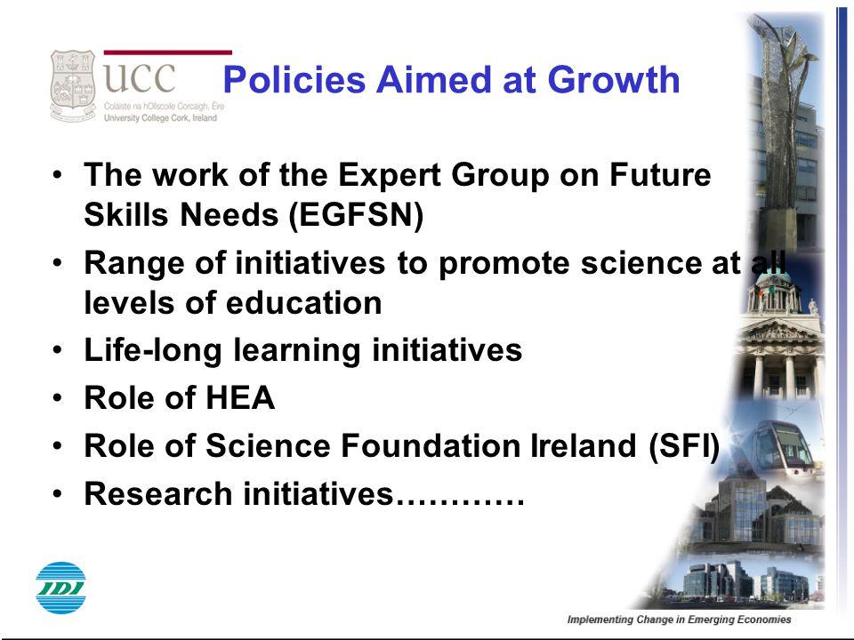 Policies Aimed at Growth