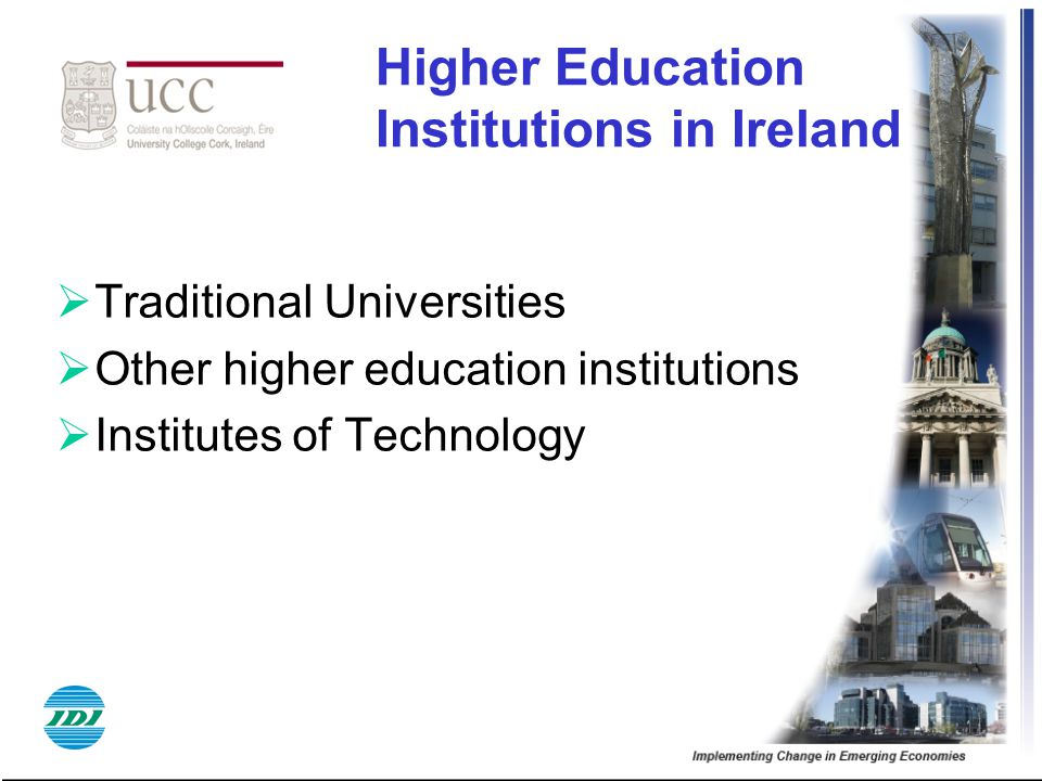 Higher Education Institutions in Ireland