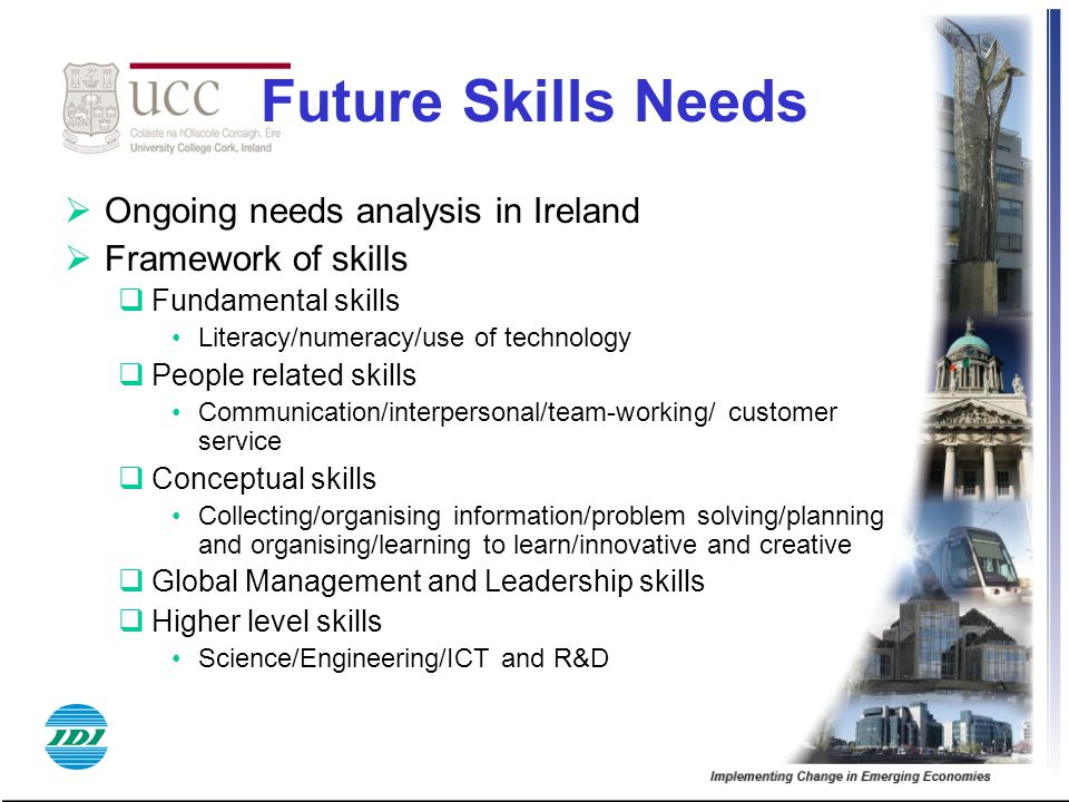 Future Skills Needs Ongoing needs analysis in Ireland