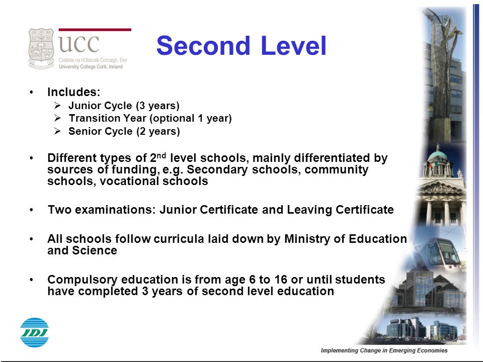 Second Level Includes: