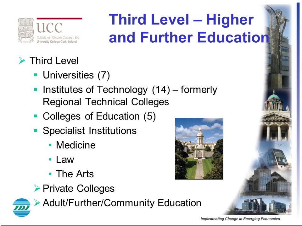 Third Level – Higher and Further Education