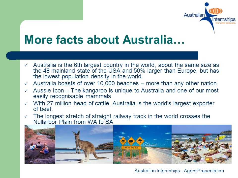 More facts about Australia…