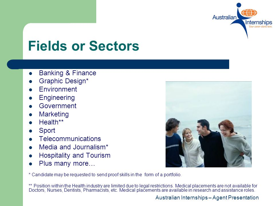 Fields or Sectors Banking & Finance Graphic Design* Environment