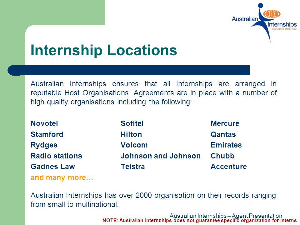 Internship Locations