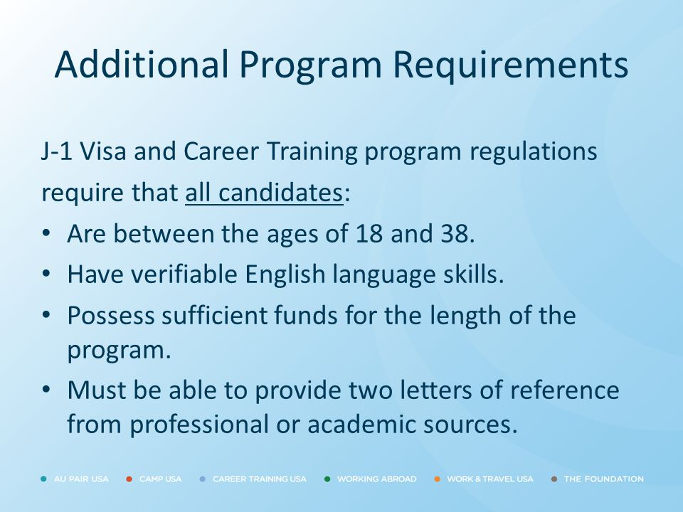 Additional Program Requirements