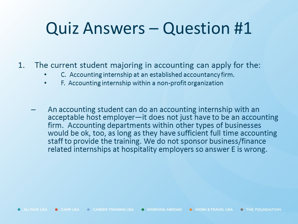 Quiz Answers – Question #1