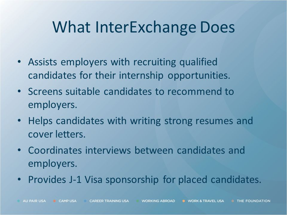 What InterExchange Does