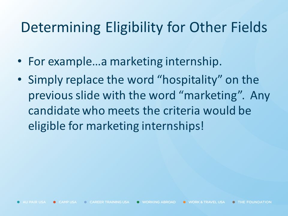 Determining Eligibility for Other Fields
