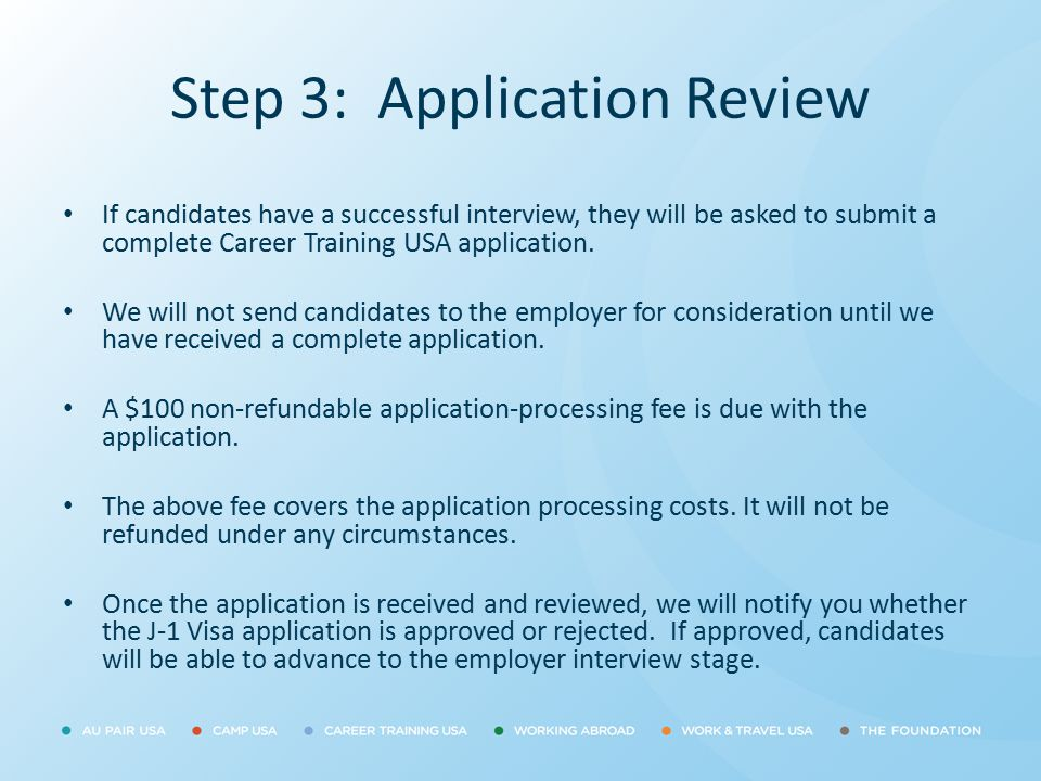 Step 3: Application Review