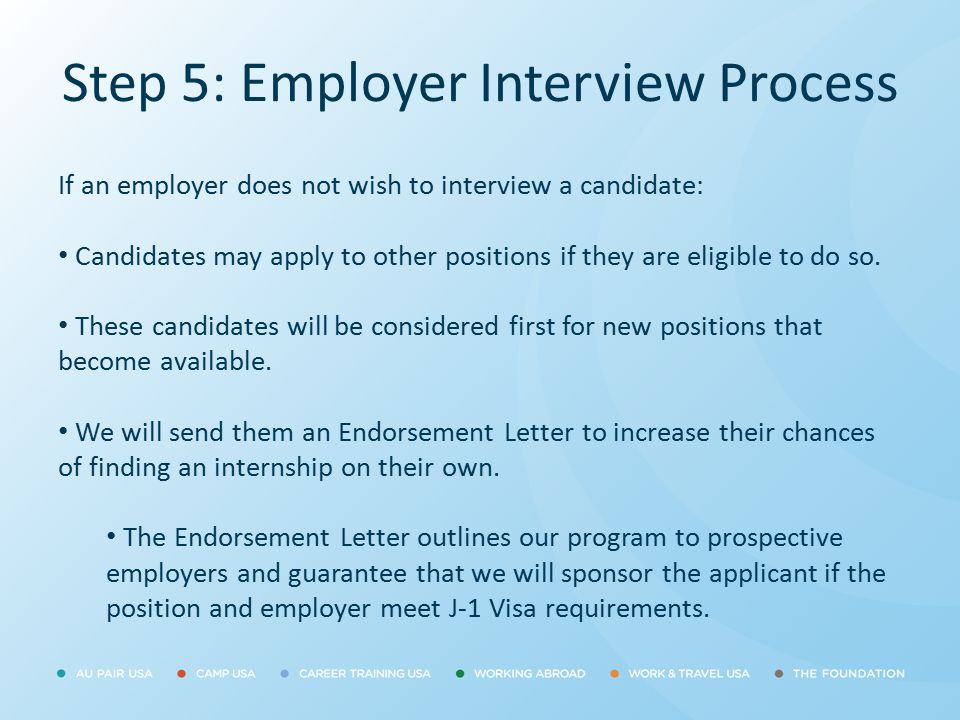 Step 5: Employer Interview Process