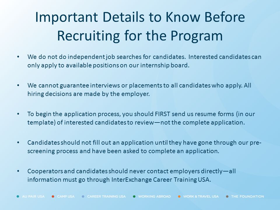 Important Details to Know Before Recruiting for the Program