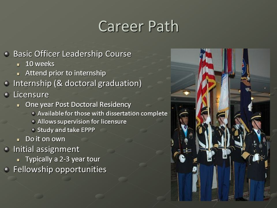 Career Path Basic Officer Leadership Course