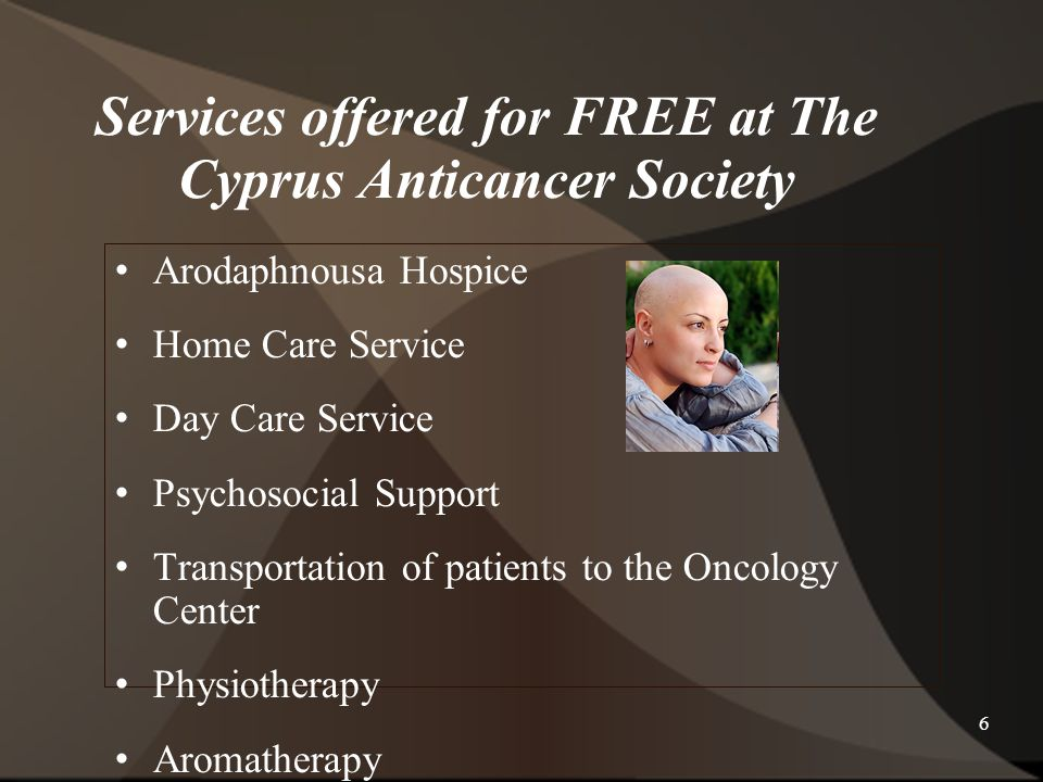 Services offered for FREE at The Cyprus Anticancer Society