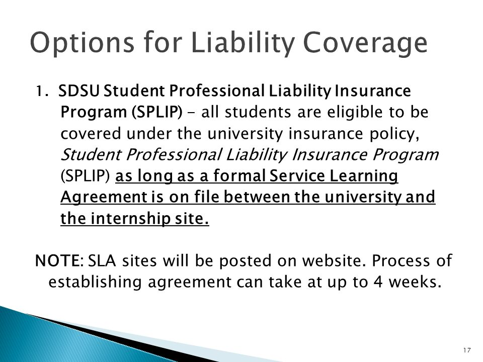 Options for Liability Coverage