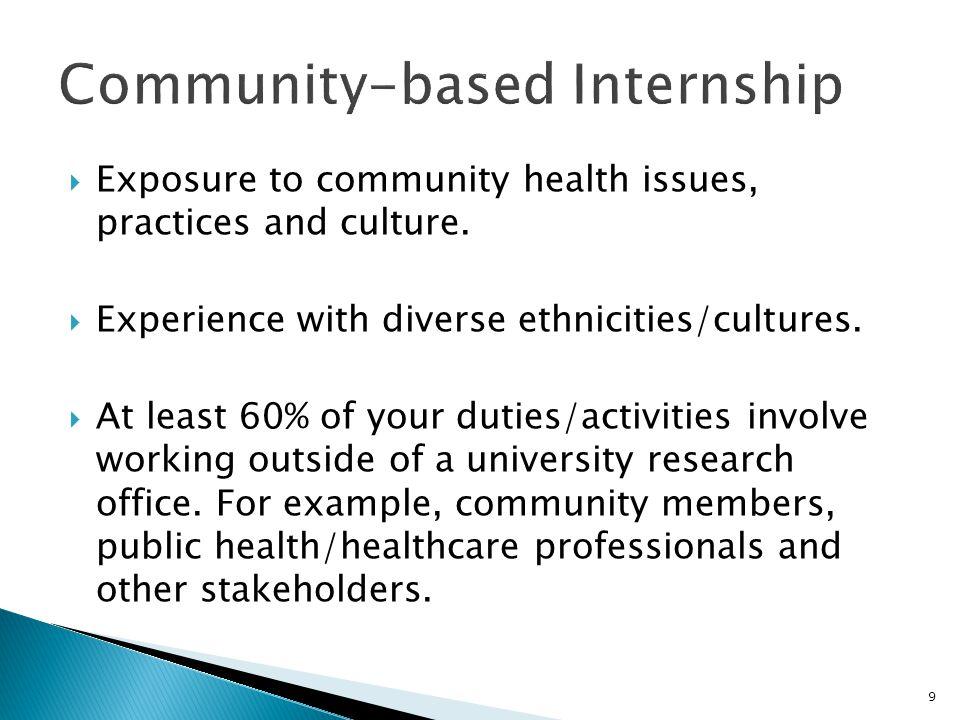 Community-based Internship