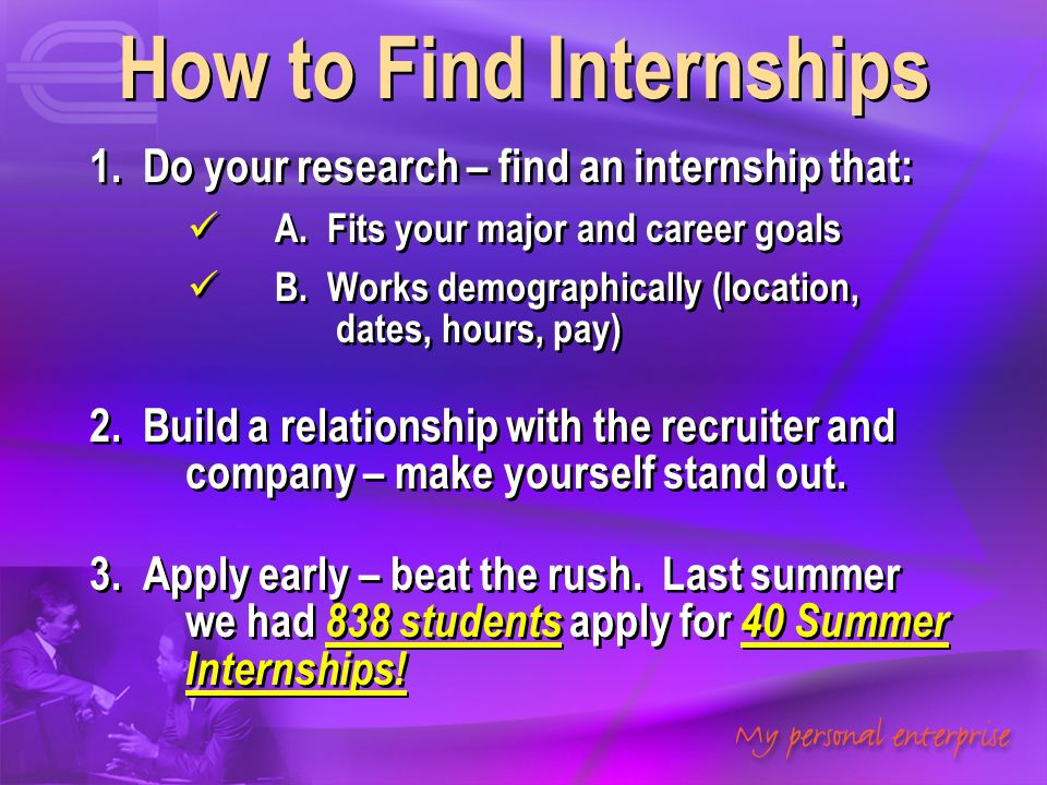 How to Find Internships